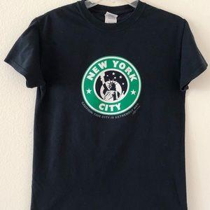 New York City Black T-Shirt Size Small